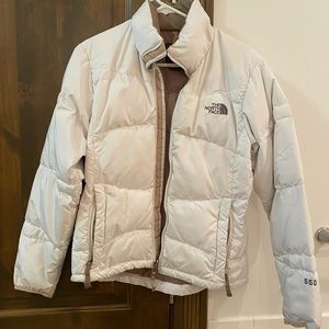 White North Face Down 550 Jacket